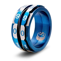 Life Counter Ring: Blue: Size 14
