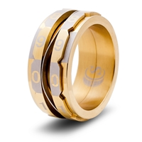 Life Counter Ring: Gold: Size 13