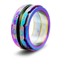 Life Counter Ring: Rainbow: Size 8