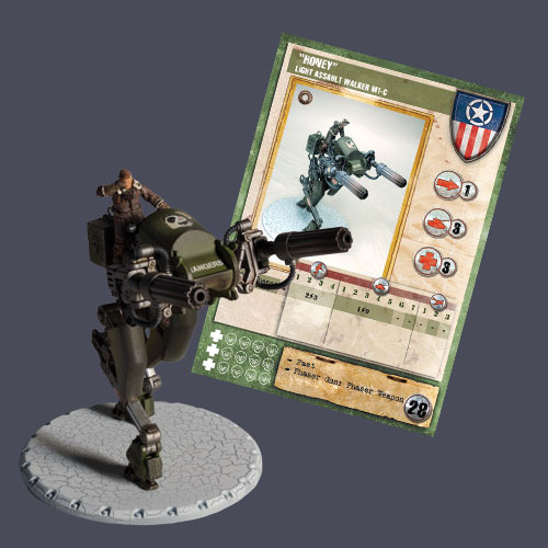 "Dust Tactics Premium Edition: Allied: Light Assault Walker ""Honey"""