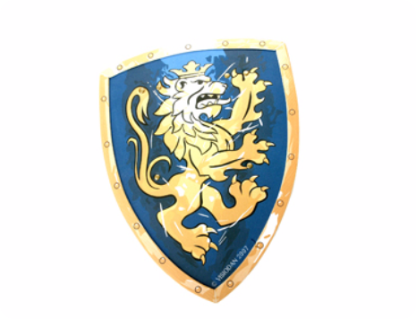 Liontouch: Knight Shield- Noble Knight (Blue)
