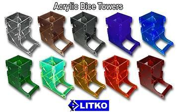 Litko: Acrylic Dice Tower: Amber