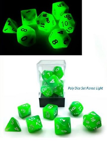 Little Dragon: Three Toned Dice- Forest Light