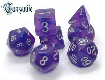 Little Dragon: Nebula Dice- TANZANITE