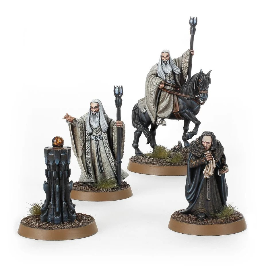 Lord Of The Rings: SARUMAN THE WHITE (Foot & Mounted) & GRIMA