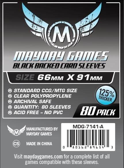 Mayday: Ultimate MTG/Pro Card Sleeves: Black Textured 66mm x 91mm