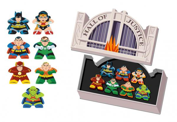 MIGHTY MEEPLES DC JUSTICE TIN
