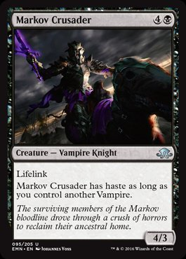 Magic: Eldritch Moon 095: Markov Crusader [FOIL]