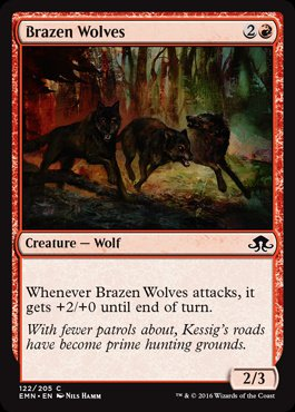 Magic: Eldritch Moon 122: Brazen Wolves [FOIL]