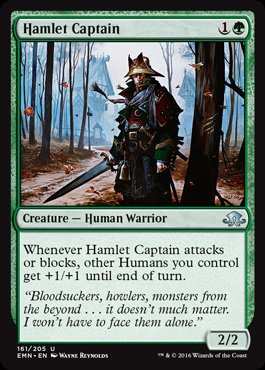 Magic: Eldritch Moon 161: Hamlet Captain [FOIL]