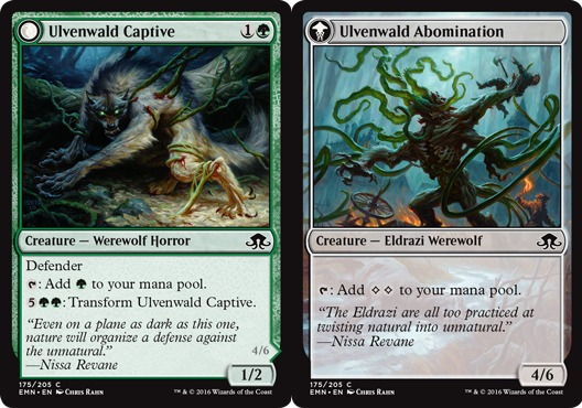 Magic: Eldritch Moon 175: Ulvenwald Captive // Ulvenwald Abomination [FOIL]