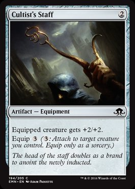 Magic: Eldritch Moon 194: Cultists Staff [FOIL]
