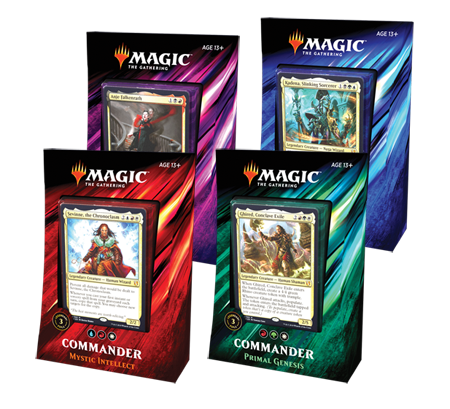 Magic the Gathering Commander 2019 - 4 Deck Set