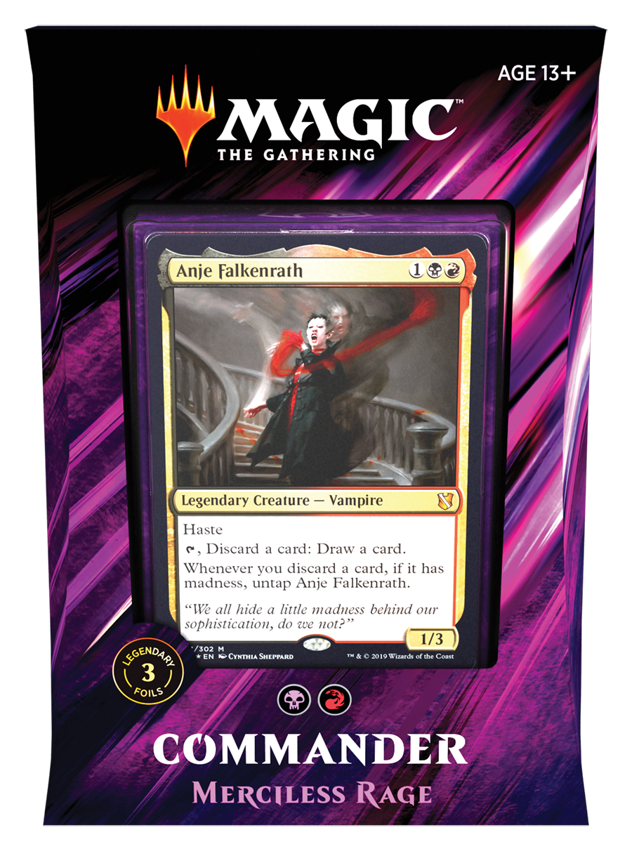 Magic the Gathering Commander 2019 - Merciless Rage (Black Red)