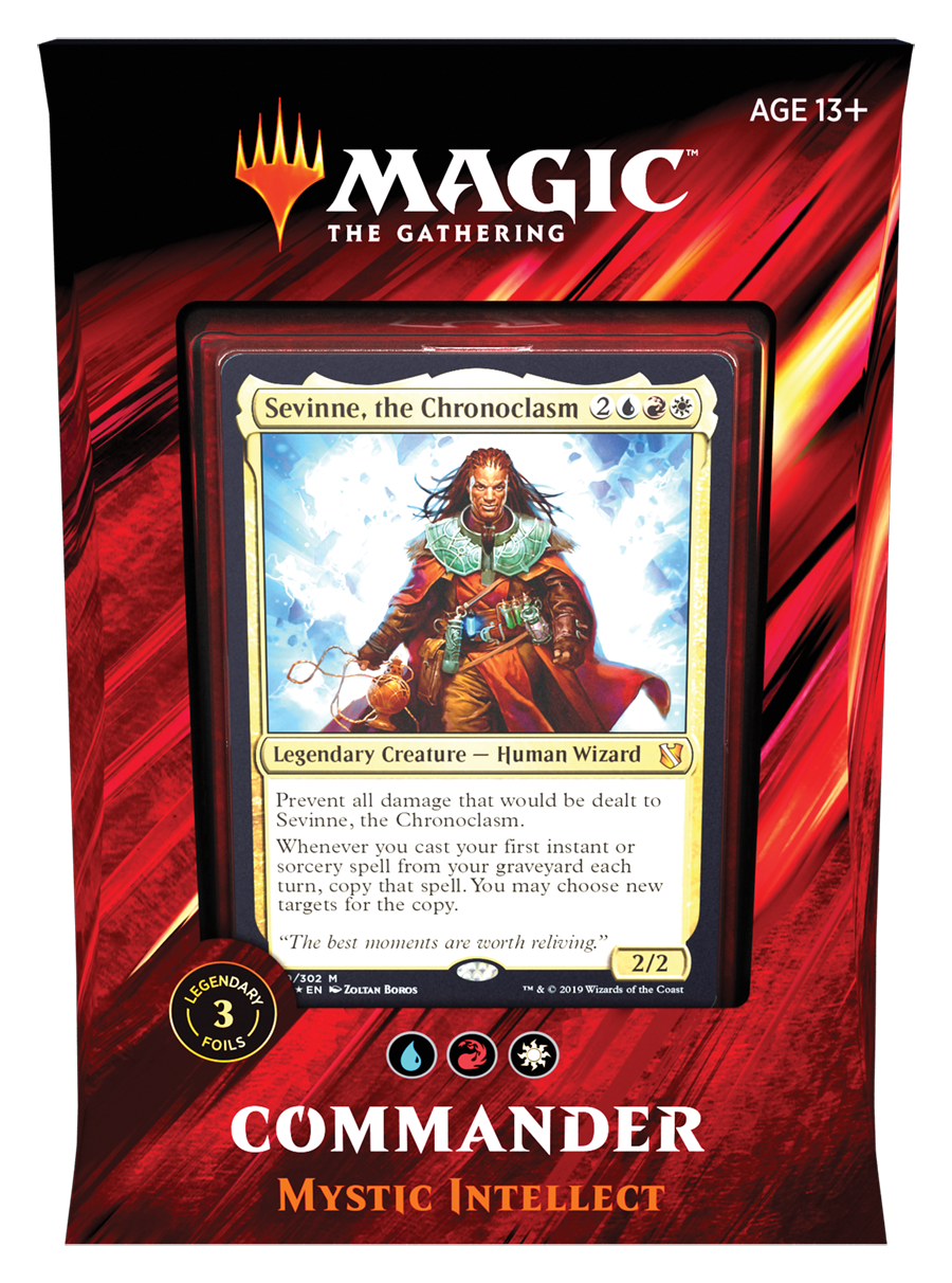 Magic the Gathering Commander 2019 - Mystic Intellect (Blue Red White)