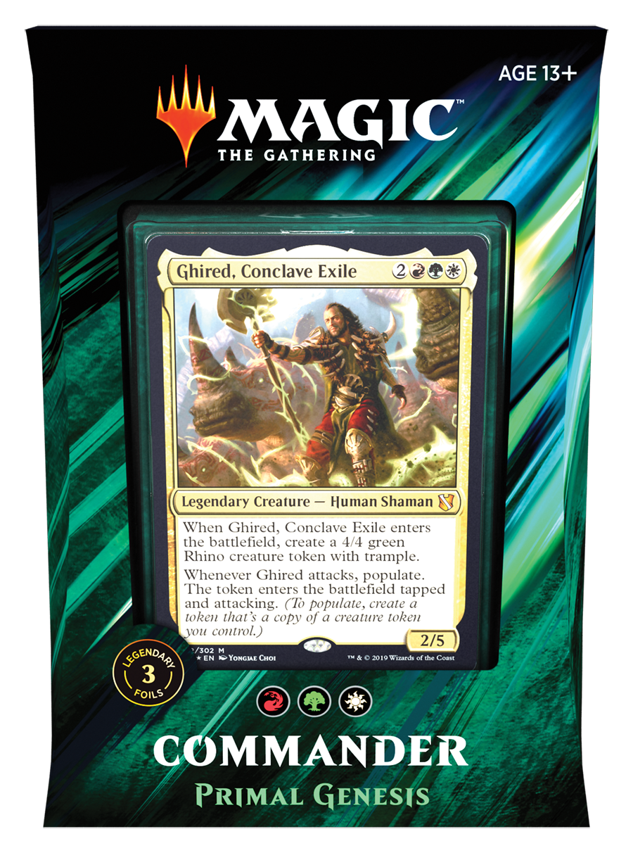 Magic the Gathering Commander 2019 - Primal Genesis (Red Green White)