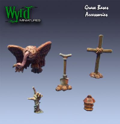 Malifaux: Base Inserts - Graveyard - Accessories