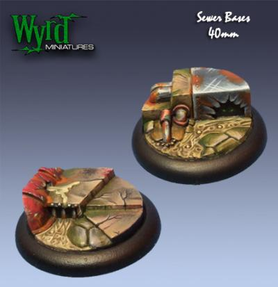 Malifaux: Base Inserts - Sewer - 40mm (2)