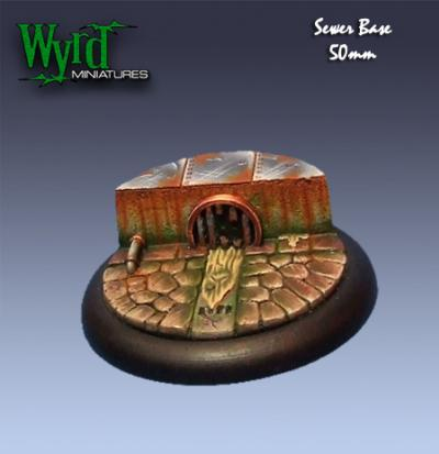 Malifaux: Base Inserts - Sewer - 50mm