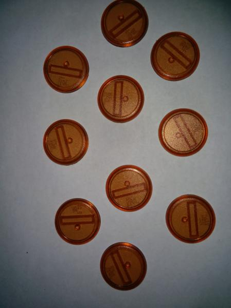 Malifaux: Brown Translucent Bases: 30mm