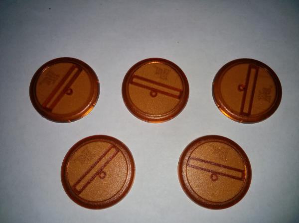 Malifaux: Brown Translucent Bases: 40mm