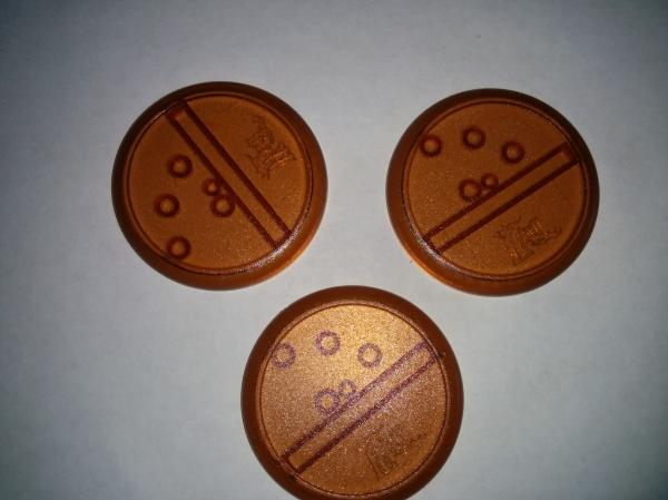 Malifaux: Brown Translucent Bases: 50mm