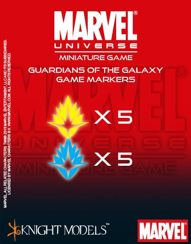 Marvel Universe Miniature Game 037: Guardians Of The Galaxy Markers