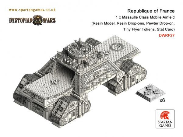 Dystopian Wars: Republique of France: Masaulle Class Mobile Airfield