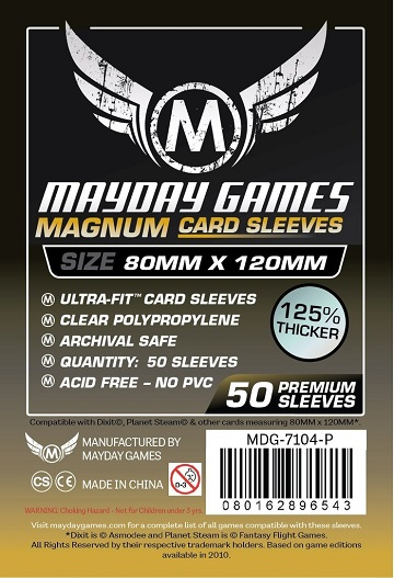 Mayday Games: Magnum Card Game Sleeves - Dixit 80x120MM (50ct)