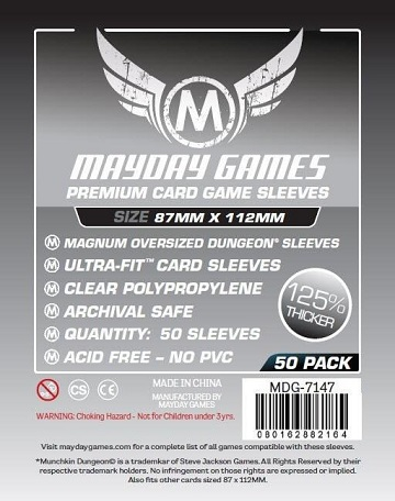 Mayday Games: Premium Card Game Sleeves - Oversized 87x112MM (50ct)