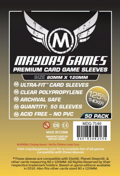 Mayday: Large Card Sleeves: Premium 80mm X 120mm