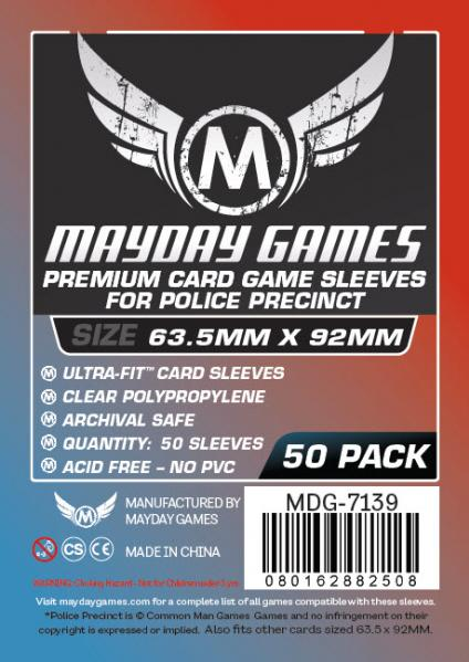 Mayday: Police Precinct Premium Sleeves (50 Pack 63.5x92mm)