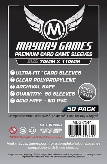 Mayday: Premium Lost Cities Card Sleeves: 70mm X 110mm (50)