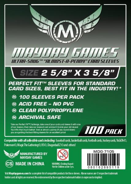 Mayday: Ultra-Snug Almost A Penny Perfect Fit Card Sleeves (Standard Size)