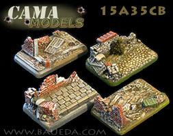 Cama Scenics: 15mm Scenic Bases: Urban Medium/Light Artillery