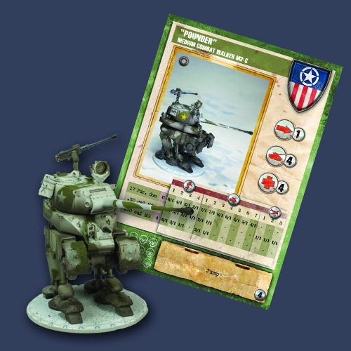 "Dust Tactics Premium Edition: Allied: Medium Assault Walker ""Pounder"""
