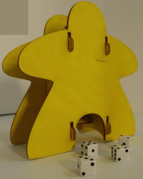Meeple Knockdown Dice Tower (Yellow)