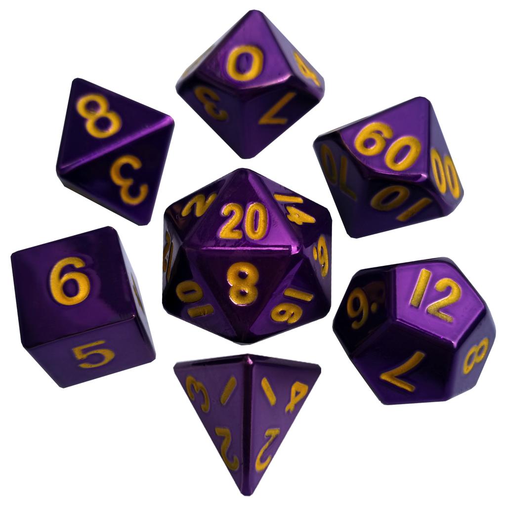 Polyhedral Dice Sets- Metal