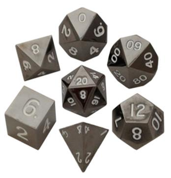 Metal Polyhedral Dice Set 16mm: Sterling Gray