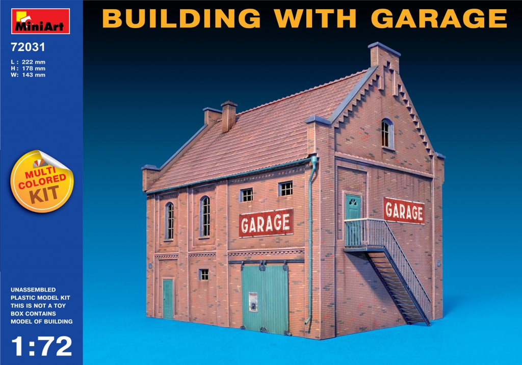 Miniart 1/72 Multi Colored Kit: Building with Garage