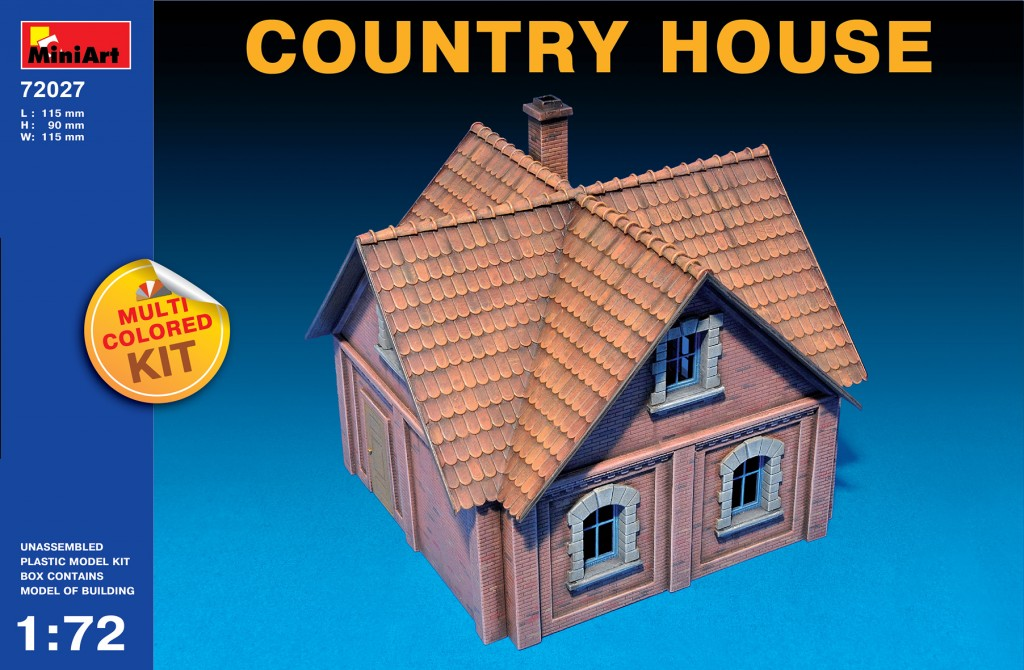 Miniart 1/72 Multi Colored Kit: Country House