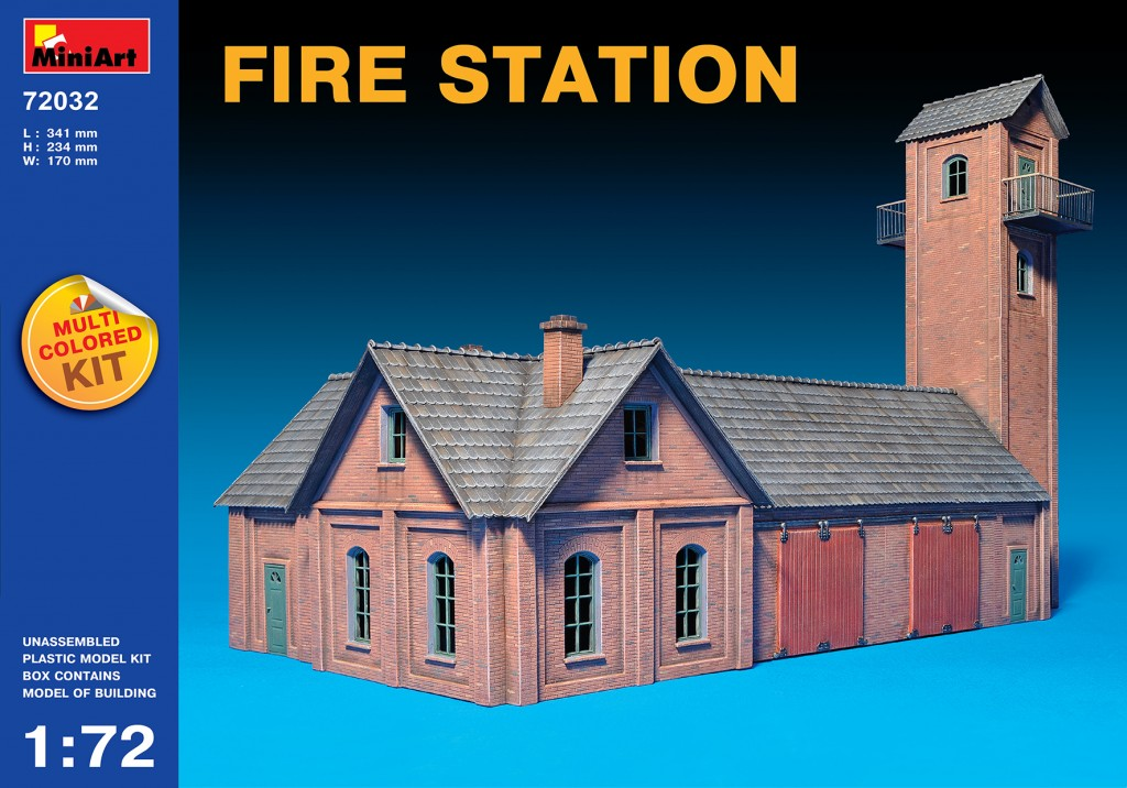 Miniart 1/72 Multi Colored Kit: Fire Station