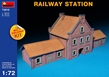 Miniart 1/72 Multi Colored Kit: Railway Station - MA102527 [4820041102527]