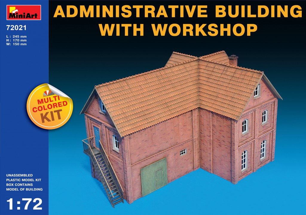 Miniart 1/72 Multi Colored Kit: Administrative Building with Workshop