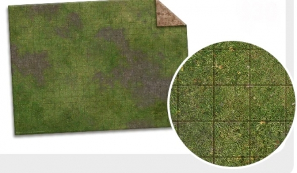 "Monster Game Mat: Broken Grassland / Desert Scrubland (22x30"") [Adventure Grid]"