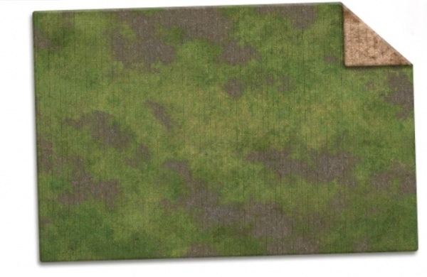 Monster Game Mat: Broken Grassland / Desert Scrubland (6x4) [Adventure Grid]