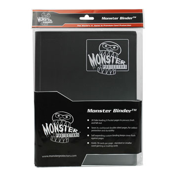 Monster Protectors: 4 Pocket Binder: Matte Black White