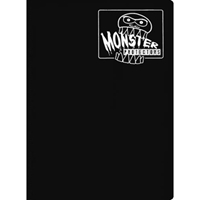 Monster Protectors: 9 Pocket Binder: Black w/White