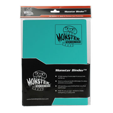 Monster Protectors: 9 Pocket Binder: Matte Teal