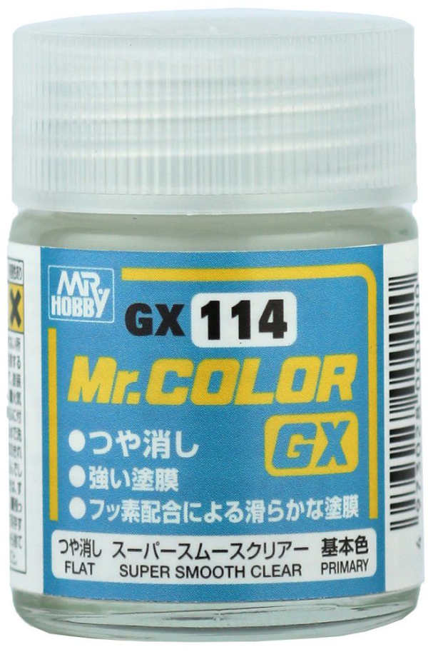 Mr. Color GX: G114 Super Smooth Clear Flat